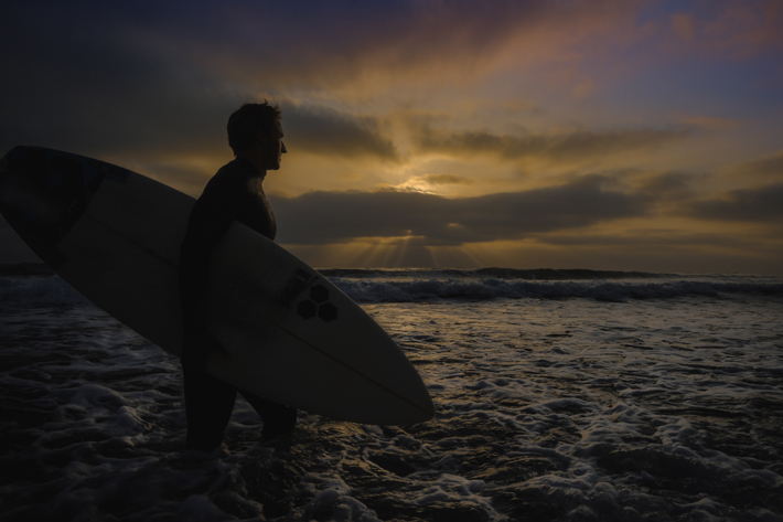 Surfing: LaJolla, California